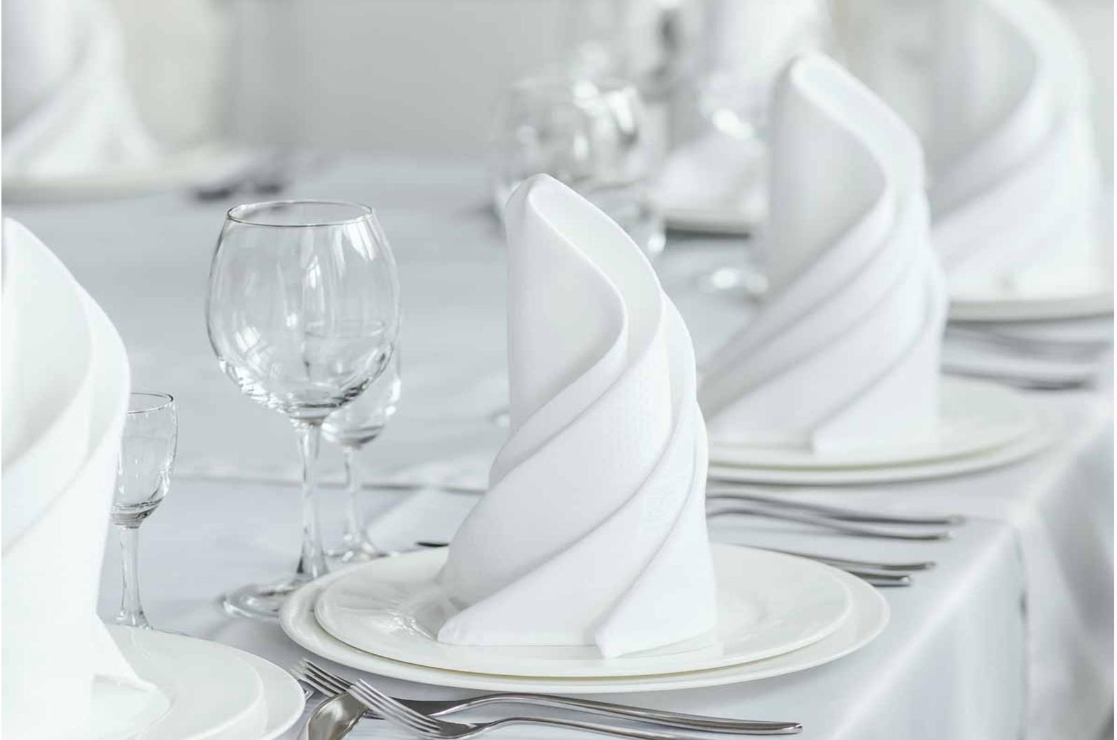 white table linen